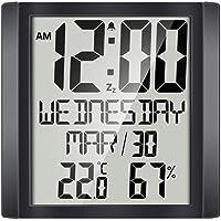 Amagogo Digital Clock Family Temp Humidity Gauge Calendar Reminders Max/Min Records
