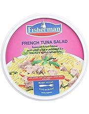 سلطة التونة الفرنسية مع البطاطس وذرة وفلفل احمر وفاصوليا خضراء ومكرونة من فيشر مان - 230 جم