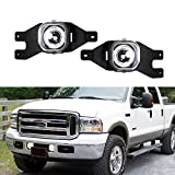 04 f250 fog lights - iJDMTOY (2) Projector Fog Lights w/ LED Halo Rings For 1999-2004 Ford F-250, 2001-2004 Ford F-350 F-450 F-550 Super Duty & Excursion