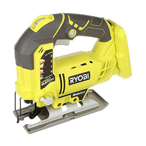 Professional Jigsaw - Professional Portable (Ryobi Jig Saw 18-Volt Variable Speed 1100-3000 SPM) w/ 1 Wood-cutting Blade & Allen Wrench. Superior Cutting Performance for Variety of Materials. Cordless (No Battery Included)