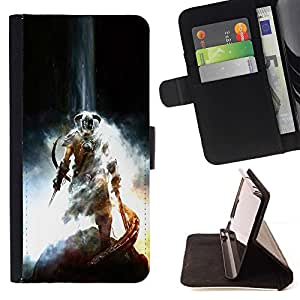 Momo Phone Case / Flip Funda de Cuero Case Cover - Dragonborn Warrior - LG G2 D800