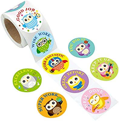 Fancy Land Animal Reward Stickers for Kids 200Pcs Per Roll Sticker for Teacher Classroom