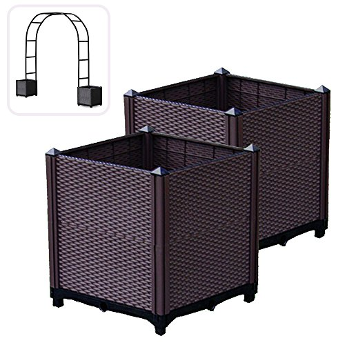 depot home p planters inch en square planter centre and the stands canada garden categories tall outdoors plant wicker lawn