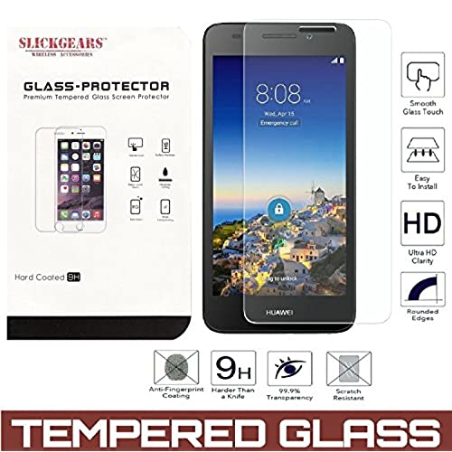 Huawei Sensa 4G LTE [Straight Talk] H710VL H715BL / Honor 5X Tempered Glass UltraClear 9H Impact Abrasion Resistance LCD Screen Protector well-wreapped