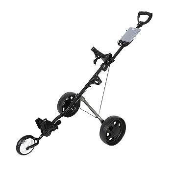GOTOTOP Durable Plegable 3-Rueda Carro de Empuje de Golf Carretilla con Sistema de Freno de Pie: Amazon.es: Deportes y aire libre