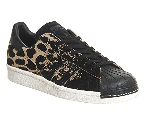 W adidas Chaussures 80s Sneakers Noir SUPERSTAR Leopard Originals Motif Femme Mode qfxfCtw