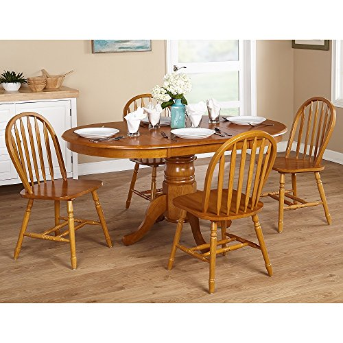 Simple Living Farmhouse 5-piece Wood Oak Dining Set