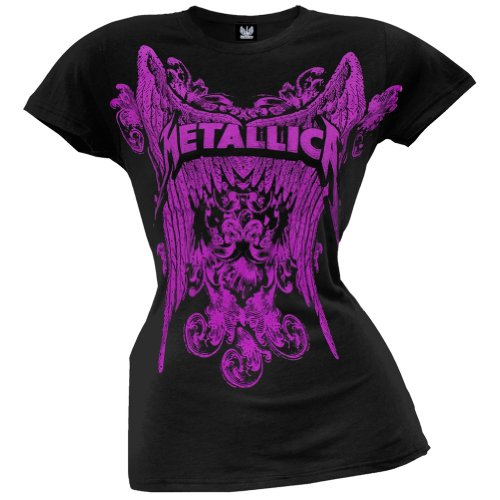 Official Metallica Winged Logo Ladies T-Shirt - Small or X-Large