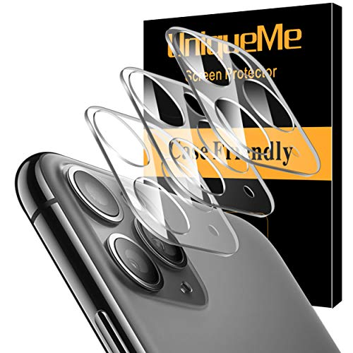 [ 3 Pack] UniqueMe Camera Lens Protector for iPhone 11 Pro/Apple iPhone 11 Pro Max Tempered Glass [New Version] Add Cameras Flash Circle from UniqueMe