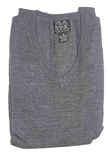 Jos  A  Banks Pullover Sweater Classic Collection  Medium  Charcoal