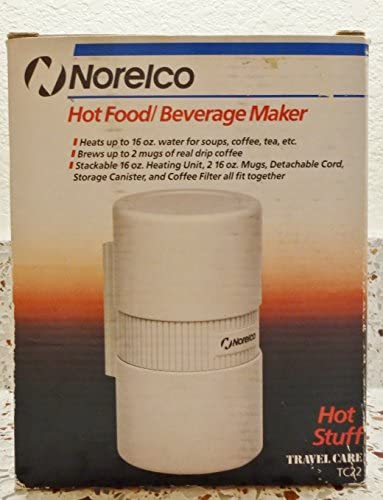 Norelco Hot Food Beverage Maker 16 oz Capacity White Color
