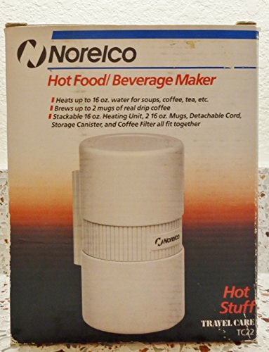 Norelco Hot Food/ Beverage Maker/ 16 oz Capacity/ White Color For Sale