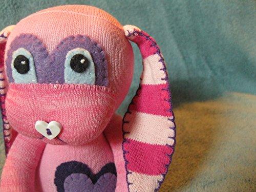 Wysteria - Sock Bunny - Handmade Plush Rabbit Doll Toy
