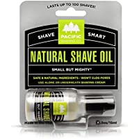 Pacific Shaving Company - Natural Shaving Oil, The Original and Best Shave and Preshave Oil for Men and Women - Safe Ingredients, Travel/TSA Compliant (0.50 oz/100 shaves)