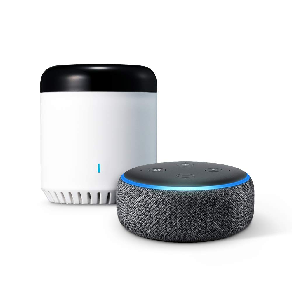 LinkJapan スマート家電コントローラ eRemote mini + Amazon Echo Dot (第3世代)、チャコール B07KK4XCJB