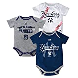 New York Yankees Baby / Infant Triple Play II 3 Piece Creeper Set 24 Months