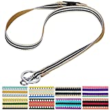 Blueberry Pet 3M Reflective Multi-colored Stripe Olive and Blue-gray Men Women Fashion Anti Choke Lanyard Keychain for Keys / ID Card / Badge Holder with Safety Breakaway Release Buckle