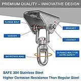 Yes4All Wood Beam Heavy Bag Hanger/Heavy Duty Swing Hanger - 360 Degree Rotation Punching Bag Hanger, B. 360 Degree Rotation