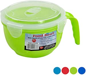 Soup Bowl with Handle and Snap Lock Vented Cover Set (4 Pack)