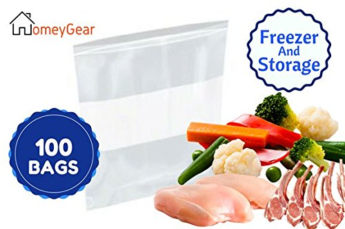 Zip Bags Lock Quality (Extra Large Heavy Weight Freezer Zipper Bags 13