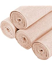 Aida Cloth Cross Stitch Cloth 4Pcs White Natural Linen Needlework Fabric Cross Stitch Cloth 20 Inch Embroidery Linen Fabric for Making Garment Craft Needle Embroidery Decoration and Tablecloth
