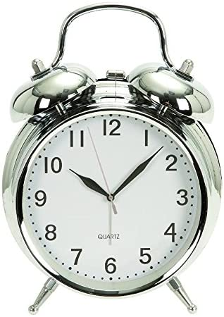 Deco 79 Metal Table Clock Chrome 6 H,5 W-72792, 6 x 5