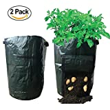 Huouo 2-Pack Potato Planter Growing Tub Vegetables Raised Bed Garden Grow Bags with Access Flap for Harvesting 14