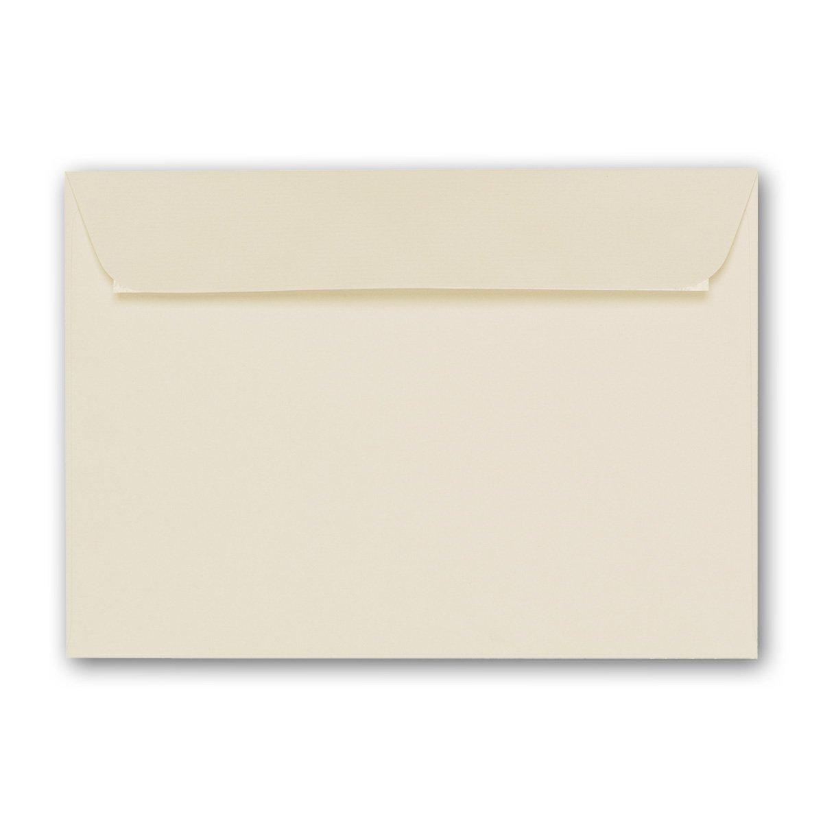 ARTOZ 50x Briefumschl/äge DIN C6 Chamois I Mit Geschenkbox I 16,2 x 11,4 cm Kuvert ohne Fenster I Umschl/äge selbstklebend I Serie Artoz 1001