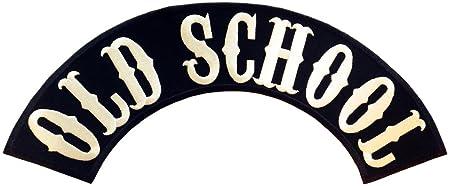 OLD SCHOOL Biker Rockabilly Heavy Metal Biker Motorrad BACKPATCH Aufnäher