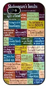 iPhone 5c Shakespeare's insults, BLURRED - Black plastic case / Inspirational and motivational life quotes / SURELOCK AUTHENTIC