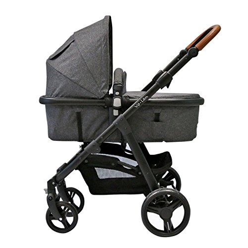 knorr-baby 798002 Kombi Kinderwagen Volan, grau - türkis