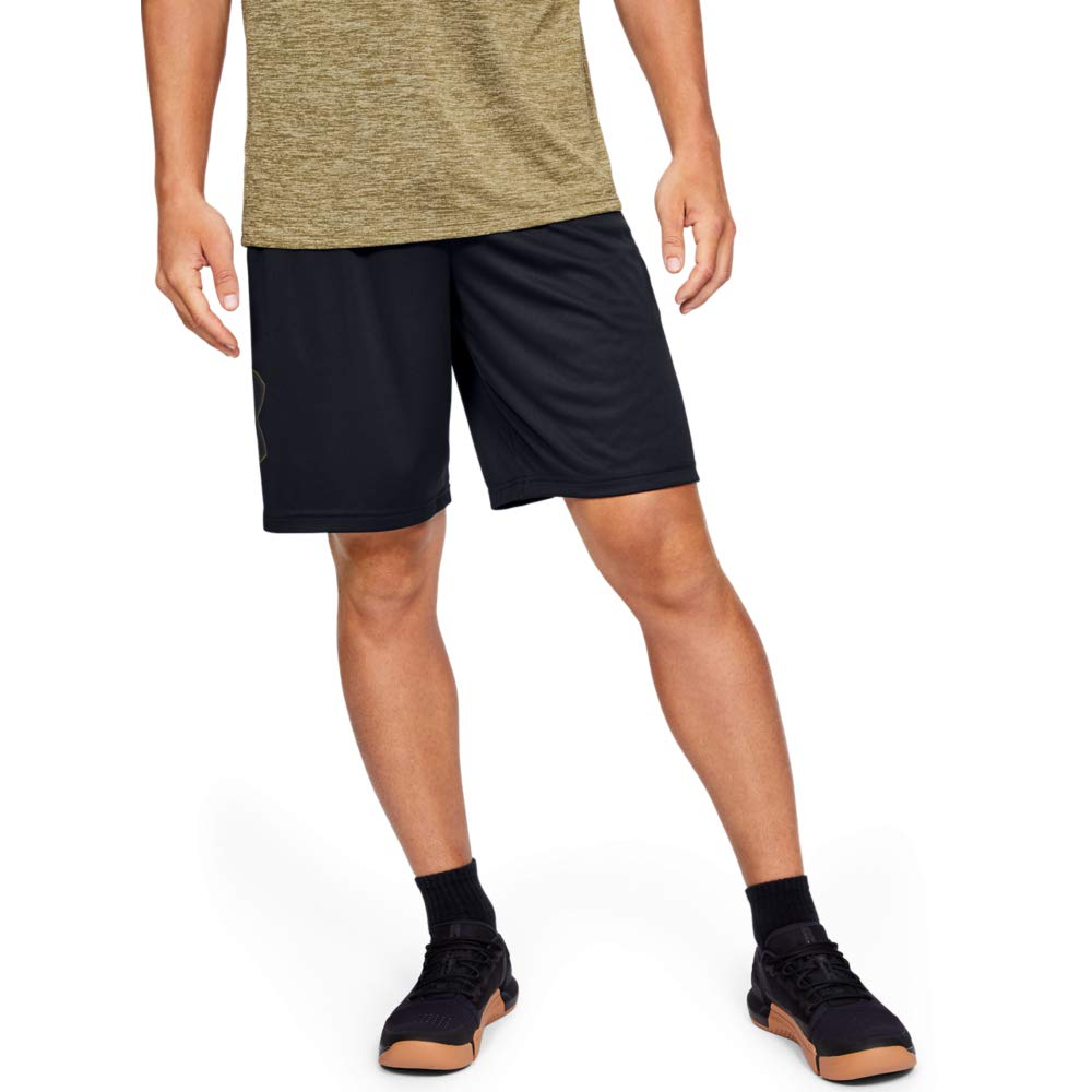 Under Armour Men's Tech Graphic Shorts , Black (003)/Outpost Green, XX-Large by Under Armour