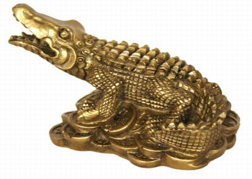 Fabulous Hong Tze Collection--Small Brass Color Aligator