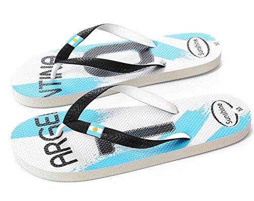 WeiYin Men's Shower Beach Sandal Flip-Flop Rubber Footwear Argentina S(EU 40 - Argentina Shop Online