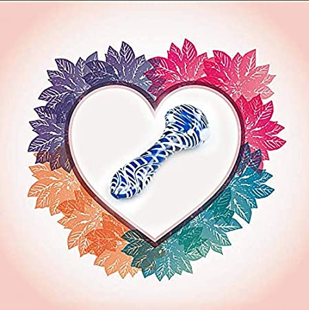 Women Boys Gift Girls JIAJU Spiral Stripes Dark Blue Art Collection Glass for Mmen