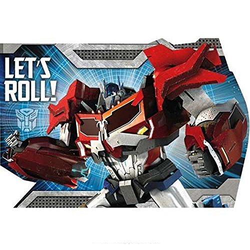 Transformers Postcard Invitations With Envelopes - 8 Pack