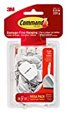 Tools & Hardware : Command Wire Hooks Mega Pack, Small, White, 28-Hooks (17067-MPES)