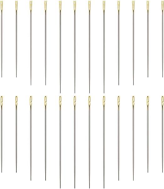 Angelikashalala 24 agujas de coser a mano, 2 tipos de agujas de ...