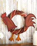 Farm Animal Rattan Wreaths ( Rooster )