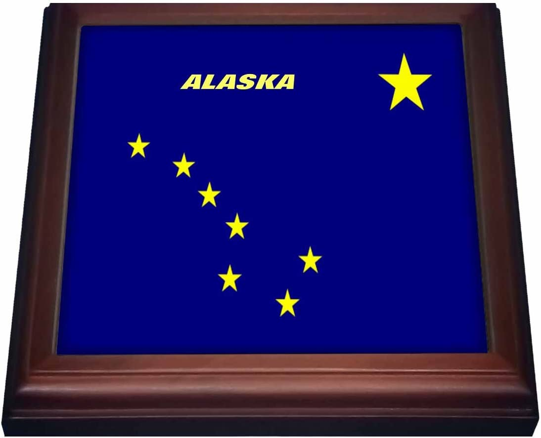 Amazon Com 3drose State Flag Of Alaska Trivet With Ceramic Tile 8 By 8 Brown Decorative Tiles Kitchen Dining