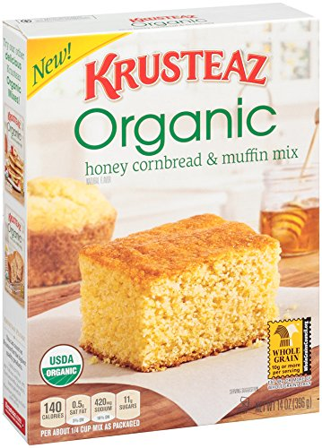 Krusteaz Organic Cornbread and Muffin Mix, Honey, 14 Ounce (Continental Mills)