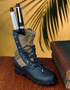 Caravelle Designs PN-12 Vietnam Jungle Boot Pen Holder