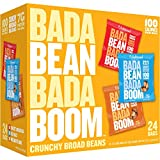 Enlightened Bada Bean Bada Boom Protein Gluten Free Roasted Broad (Fava) Bean Snack, Variety Pack, 1.0 oz, 24 Count(Packaging may vary)