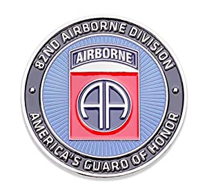 82nd U.S. Army Airborne Challenge Coin! Amazing Eighty Second US Army Custom Coin, 82nd Airborne Military Challenge Coin! Designed by Military Veterans! Officially Licensed Product! from Coins For Anything Inc