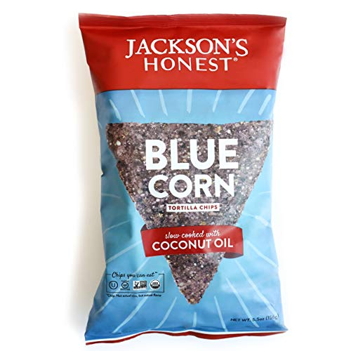 Jackson's Honest Tortilla Chips - Blue Corn - Made with Organic Coconut Oil, Non...