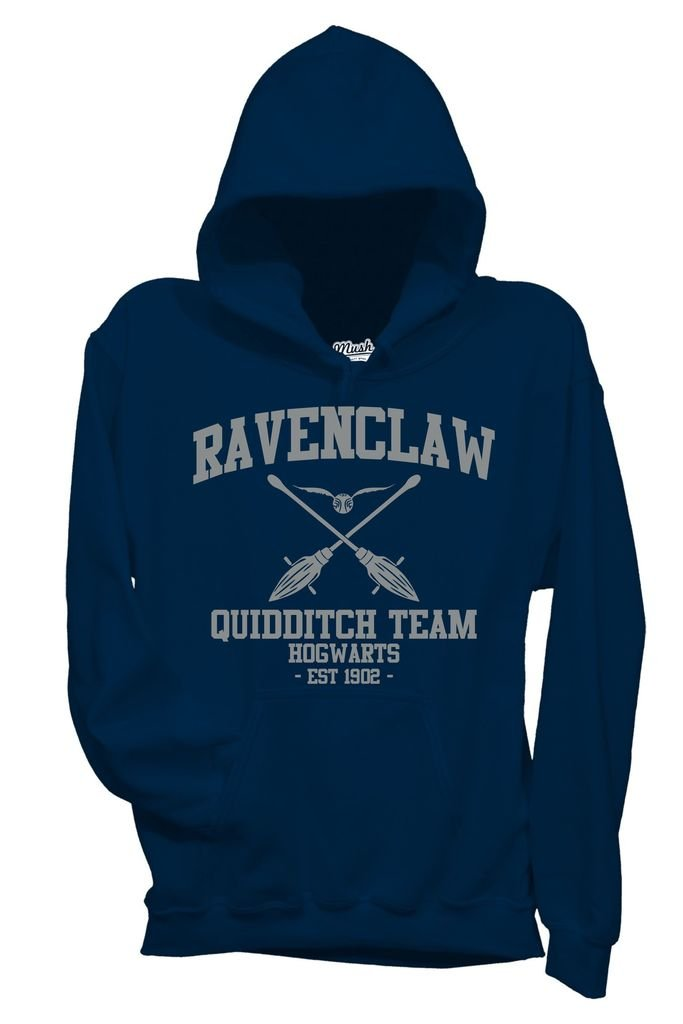 MUSH Felpa Ravenclaw Quidditch Harry Potter - Film by Dress Your Style - Bambino-XL-Blu Navy mushF-IT-1242-K-NAV-05