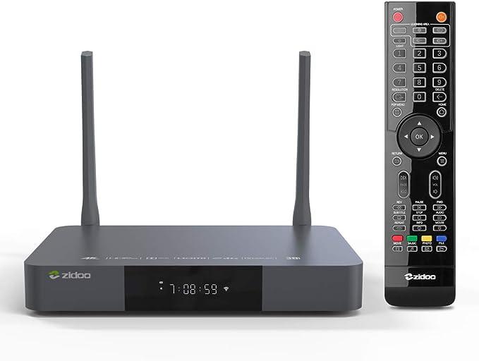 Zidoo Android 7.1 TV Box Z9S 4K Set Top Box BLU-Ray NAS 2GB DDR 16GB Realtek 1296 4 núcleos 64 bits A53 procesador 2.4G/5G WIFI/3D/HDR/SATA/USB3.0/BT4.1 UHD Smart TV Box: Amazon.es: Electrónica