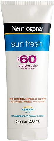 Protetor Solar Sun Fresh FPS 60,, Neutrogena, 200Ml