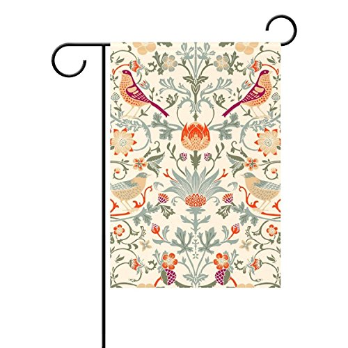 - BoloHome William Morris Flower Garden Flag Double Sided House Banner 28 x 40 inch, Decorative Yard Flag for Wedding Outdoor Decor, 100% Polyester