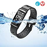 Fitness Tracker - LEKANG Activity Tracker with Wrist-Based Heart Rate Monitor - Water Resistant Smart Band with Step Tracker Sleep Monitor Calorie Counter Notification Alerts for Android iOS